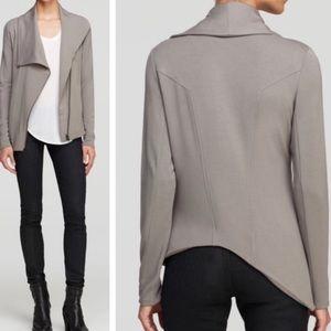HELMUT LANG Brown Villous Asymmetrical Jacket